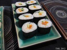 Helmenvalkoinen maailma: sushi