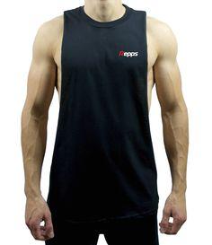 bd9d9c217708c Repps Logo Cut Off Shirt Black Cut Off Shirt