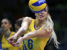 2016 Rio Olympics - Volleyball - Women's Preliminary - Pool A Brazil v Argentina - Maracanazinho - Rio de Janeiro, Brazil - 08/08/2016.…