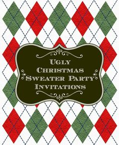 Ready to send out your Ugly Christmas Sweater Party Invitations? Set the tone for your Christmas festivities with the right Christmas party invitations. Luau Party Invitations, Christmas Party Invitations, Tacky Christmas Sweater, Ugly Sweater Party, Holiday Fun, Holiday Ideas, Christmas Ideas, Xmas, Unique Christmas Decorations
