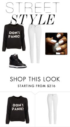 """Street style"" by nellysofab19 ❤ liked on Polyvore featuring Marc by Marc Jacobs, Paige Denim and NIKE"