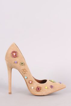 Shoe Republic LA Suede Beadwork Pointy Toe Pump - Avenue of Angels Pump Shoes, Pumps, Extreme High Heels, Designer Heels, Beadwork, Stiletto Heels, Toe, Pure Products, Campaign