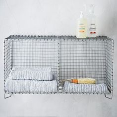Wire Mesh Storage - Hanging Double Shelf #westelm