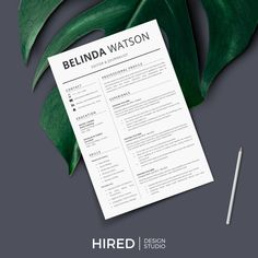 Dribbble - by Hired Design Studio Cover Letter Tips, Cover Letter Design, Cover Letter Template, Cv Template, Letter Designs, Resume Templates, Simple Resume, Modern Resume, Microsoft Word 2007