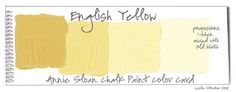 COLORWAYS Annie Sloan Chalk Paint Colors + Progressions English Yellow