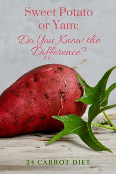 Sweet potato or yam: do you know the difference? Whether you call them yams or sweet potatoes, the vegetables in your Thanksgiving sides are probably New World sweet potatoes and not Old World yams.   food history   sweet potato nutrition   24 Carrot Diet