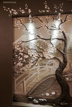 Объемные рисунки на стенах. Идеи и один мастер-класс  - [image from: samodelych.ru] {Beautiful Wall Art}