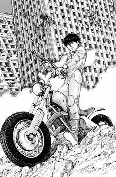 《Akira》 by 大友克洋 Katsuhiro Otomo Art Manga, Manga Artist, Comic Artist, Comic Manga, Manga Comics, Manga Akira, Image Moto, Illustrations, Illustration Art