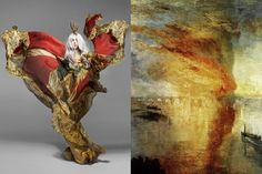W I S F Match #242 Lady Gaga photographed by Nick Knight for Vanity Fair September 2010 | The Burning of the Houses of Lords and Commons by J.M.W. Turner