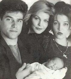 Priscilla, Lisa Marie with first husband, Danny Keough; with Elvis' only grandson Benjamin. After Lisa and Danny's split, the two divorced in 1994 after six years of marriage. Presley entered a string of failed relationships and spontaneous marriages.
