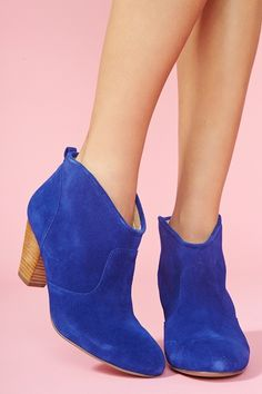 Marks Ankle Boot - Blue Suede