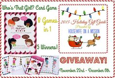 Who's That Girl? Card Game Giveaway 12/06 ~ Tales From A Southern Mom