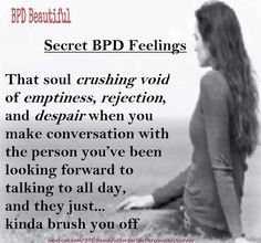 BPD Feelings about Rejection