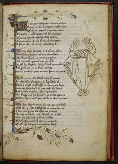 Gloves, Royal 17 D VI, Thomas Hoccleve, The Regement of Princes, with other poems