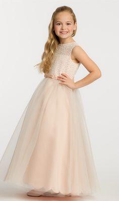 Sequin+Tulle+Flower+Girl+Dress