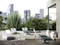 Creating the perfect outdoor living space has to have the perfect outdoor furniture piece - Look through these 20 great pieces to consider in Modern Garden Furniture, Dining Furniture, Contemporary Furniture, Outdoor Furniture Sets, Furniture Design, Outdoor Lounge, Outdoor Chairs, Outdoor Living, Outdoor Decor