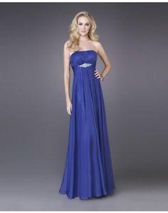 Empire Strapless Beading Sleeveless Floor-length Chiffon Prom Dresses / Evening Dresses (SZ038205 )