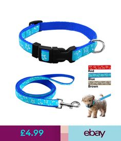 Collars Star Print Dog Collar And Matching Leads Set Pet Walking Leash For Medium Dogs M #ebay #Home & Garden