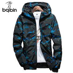 1fa998102e4 2018 Spring Autumn Mens Casual Camouflage Hoodie Jacket Men Waterproof  Clothes Men S Windbreaker Coat Male Outwear Plus Size 4XL