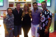 DANIEL SUDAR and his models with Kirstie Alley