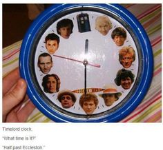 Doctor Who clock Also I mean really it's obviously Half Past the TARDIS