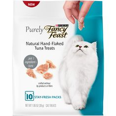 Purina Purely Fancy Feast Natural Hand Flaked Tuna Entree Cat Treat, Pouch by Purina Fancy Feast * To view further for this item, visit the image link. (This is an affiliate link) Wild Bird Food, Cat Treats, Proper Nutrition, Cat Food, Tuna, Food To Make, 3 D, Your Pet, Fancy