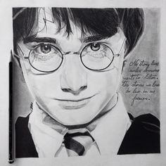 My drawing of Harry Potter