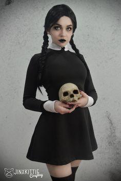 Cosplay: Wednesday Addams  Model/Cosplayer: JinxKittie Cosplay