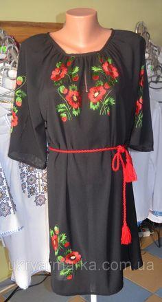 """#вишиванка, #вишите плаття, #Сукня """"Мальви"""" #ручної роботи виконання в техніці гладь на шифоні. Натуральна тканина та вільний крій роблять цю сукню надзвичайно комфортною. Приковують погляд вибагливі квіти, що гармонійно лягли на чорне полотно. Таке вбрання буде доречним як на святкові події, так і на романтичні прогулянки містом.http://ukryarmarka.com.ua/p368952121-zhnocha-vishita-suknya.html"""