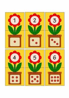 Printable flash card colletion for numbers with dots for preschool / kindergarten kids Kids Math Worksheets, Preschool Learning Activities, Kindergarten Math, Preschool Activities, Numbers Preschool, Learning Numbers, Teaching Aids, Math For Kids, Kids Education