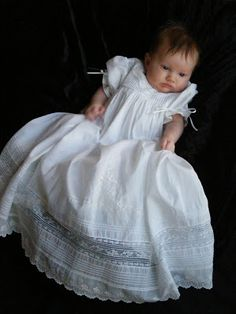 The Chipper Snipper: Heirloom Sewing by My Mom Baby Christening Gowns, Baptism Dress, Blessing Dress, Baby Blessing, Baptism Outfit, Christening Outfit, Little Girl Dresses, Flower Girl Dresses, Heirloom Sewing