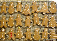 Have Yourself a Whole Grain Holiday: (Eggless) Whole Wheat Gingerbread Cookies. Gingerbread Cookies, Christmas Cookies, Whole Grain Wheat, Holiday Recipes, Grains, Desserts, Food, Gingerbread Cupcakes, Xmas Cookies