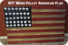 DIY: How To Make an American Flag out of a Wood Pallet (Step by Step Tutorial w/ Pictures)   SassyDealz.com
