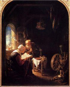 Gerrit Dou, La lettura della Bibbia, 1645