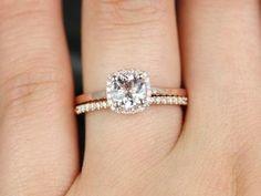 Bella Petite Size 14kt Rose Gold Morganite Diamond by RosadosBox..beautiful