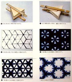 Resultado de imagem para shibori tutorial