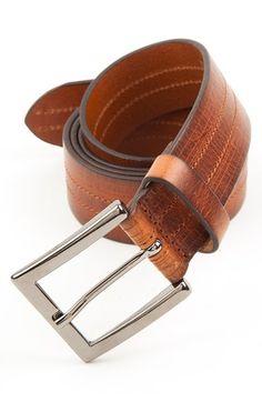 Men's Big & Tall Trafalgar 'Hayden' Leather Belt,