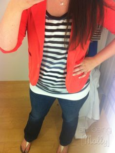 Coral Blazer - Trend of the Month - still being [molly]