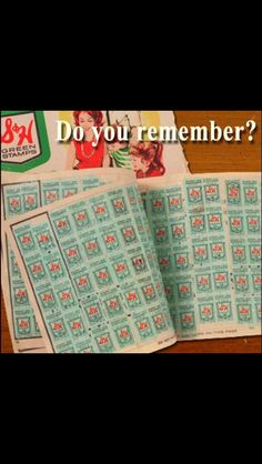 I can remember going with my mom to exchange these green stamps for a gift!
