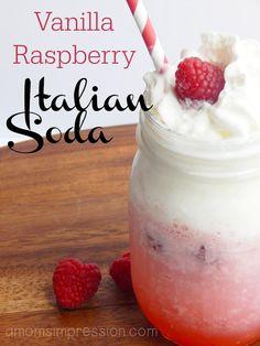 Vanilla Raspberry Italian Soda