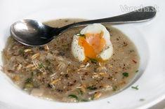 Dvojdrožďová polévka - Recept 20 Min, Oatmeal, Breakfast, Food, The Oatmeal, Morning Coffee, Rolled Oats, Essen, Meals