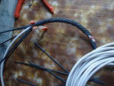 Плетение из газет кабель 6 мм