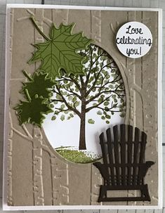"""Stamping Up """"Colorful Seasons"""" Masculine Birthday Cards, Masculine Cards, Leaf Cards, Male Birthday, Autumn Cards, Embossed Cards, Stamping Up Cards, Thanksgiving Cards, Penny Black"""