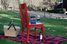 Red Chair Travels anticipating music under the stars at the summer Britt Festivals in Jacksonville, Oregon #redchairtravels #redchairinoregon #traveloregon