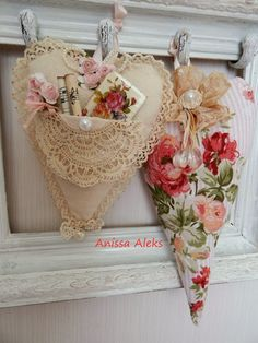 Shabby Chiclet hearts lace floral.  <3 Ene 15 15 <3