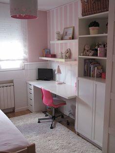 escritorio y cajonera de Ikea| Decorar tu casa es facilisimo.com