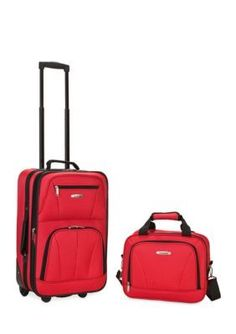 Wonderful Rockland Red 2 Piece Luggage Set   Red