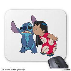 Lilo & Stitch - Lilo besa Stitch alfombrillas de ratones. Regalos, Gifts. #mousepad