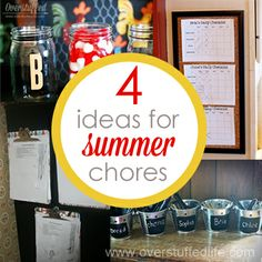 Looking for ways to keep your kids working over the summer? Four Ideas for Summer Chores that really work. Summer Activities For Kids, Summer Kids, Chore Rewards, Chore Chart Kids, Chore Charts, Summer Boredom, Chores For Kids, Parenting Teens, Raising Kids