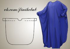 Caftan pattern (I want to make me one of these out of fleece for winter time lounging! Diy Clothing, Sewing Clothes, Dress Sewing Patterns, Clothing Patterns, Fashion Sewing, Diy Fashion, Dyi Couture, Sewing Hacks, Sewing Tutorials